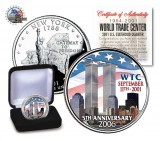 World Trade Center 9/11 5th Anniversary New York Statehood Quarter Colorized
