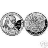 "2006 Benjamin Franklin ""Founding Father"" Proof Silver Dollar (BN3)"