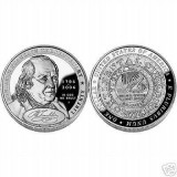 "2006 Benjamin Franklin ""Founding Father"" Uncirculated Silver Dollar (BN4)"