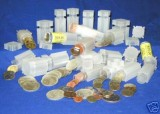 8 Pack of Square Quarter Coin Tube holds 40 coins