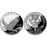 2008 Bald Eagle Proof Silver Dollar Coin