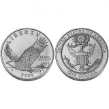 2008 Bald Eagle Uncirculated Silver Dollar Coin