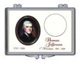 8 pack of Thomas Jefferson Presidential Dollar Coin Holder