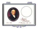 8 pack of James Madison Presidential Dollar Coin Holder