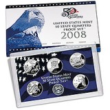 2008 US Mint 50 State Quarters Proof Set Q08