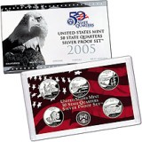 2005 US Mint 50 State Quarters Silver Proof Set V51