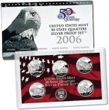 2006 US Mint 50 State Quarters Silver Proof Set V61