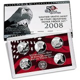 2008 US Mint 50 State Quarters Silver Proof V81