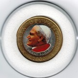 Pope John Paul II Genuine 20 Italian Lire Colorized Coin