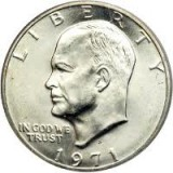 1971-S BU 40% Silver Eisenhower Large Dollar CP6502