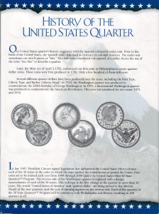 US Mint 50 State Quarter Album with complete P & D Set