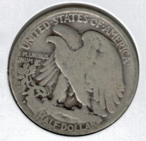 1933-S Walking Liberty Half Dollar - Actual Coin Pictured