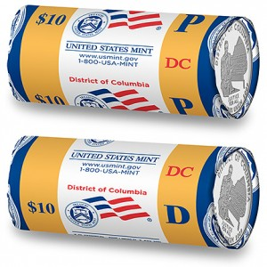 2009 District of Columbia Two-Roll Set Unopened US Mint box R63